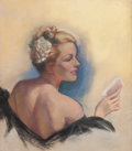 Pin-up and Glamour Art, ZOE MOZERT (American, 1904-1993). Profile of a Lady. Pastelon board. 26.5 x 23.5 in. (image). Signed lower right. ...