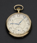 Timepieces:Pocket (post 1900), South Bend 19 Jewel 14k Series 429 Gold Pocket Watch. ...