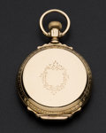 Timepieces:Pocket (post 1900), Waltham 14k Gold 14 Size Box Hinge Hunter's Case Pocket Watch. ...