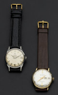 Timepieces:Wristwatch, Helbros & Zodiac Datographic Wristwatches Runners. ... (Total: 2 Items)