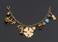 Estate Jewelry:Bracelets, 14k Gold Charm Bracelet. ...