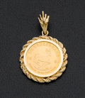 Estate Jewelry:Pendants and Lockets, Gold Coin Krugerrand Pendant. ...