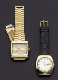 Timepieces:Wristwatch, Zenith & Girard Perregaux Automatic Wristwatches Runners. ...(Total: 2 Items)