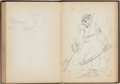 Original Comic Art:Sketches, Dave Berg Personal Sketchbook (1940)....