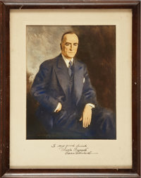 Eddie Rickenbacker Signed Photo and Archive of Signed Letters, all to His Friend Charles Froesch of Eastern Airlines...