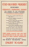 "Military & Patriotic:WWI, WWI Posters: ""The Empire Needs Men!"", ""Keep It Coming"", and ""ColdBlooded Murder!"". ..."