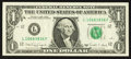 Error Notes:Ink Smears, Fr. 1916-L $1 1988A Federal Reserve Note. Extremely Fine.. ...
