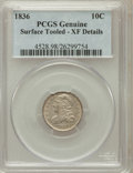 Bust Dimes: , 1836 10C -- Surface Tooled -- Genuine PCGS. XF Details. NGC Census:(7/184). PCGS Population (25/191). Mintage: 1,190,0...