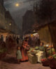 VICTOR GABRIEL GILBERT (French, 1847-1933) The Fruit Seller Oil on canvas 25-1/2 x 21-1/4 inches (64.8 x 54.0 cm) Si...