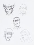 Original Comic Art:Miscellaneous, Adams Hughes Assorted Character Studies (ca. 1990s).... (Total: 6Original Art)