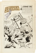 Original Comic Art:Splash Pages, George Tuska Unpublished Spyman #4 Page Original Art Group(Harvey, c. 1967)....
