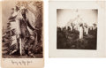Photography:Cabinet Photos, Cabinet Card: Photograph of Rain-in-the-Face, including AdditionalCuster Battlefield Burial Ground Photo.... (Total: 2 Items)