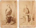 Photography:Studio Portraits, Boudoir Cards: Two Photos of Otes Chiefs, Second Chief and White Horse.... (Total: 2 Items)