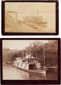 Transportation:Nautical, Two Boudoir Albumen Prints of Steamboats.... (Total: 2 Items)