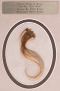 Military & Patriotic:Indian Wars, George Armstrong Custer: A Superb Braided Lock of his DistinctiveBlond Hair, with Family Provenance. ...