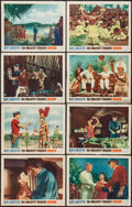 """Movie Posters:Adventure, His Majesty O'Keefe (Warner Brothers, 1954). Lobby Card Set of 8(11"""" X 14""""). Adventure.. ... (Total: 8 Items)"""