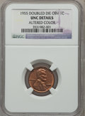 Lincoln Cents, 1955 1C Doubled Die Obverse -- Altered Color -- NGC Details. Unc.FS-101....