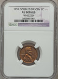 Lincoln Cents, 1955 1C Doubled Die Obverse -- Whizzed -- NGC Details. AU.FS-101....