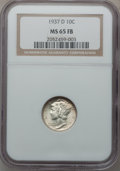 Mercury Dimes: , 1937-D 10C MS65 Full Bands NGC. NGC Census: (173/434). PCGSPopulation (604/784). Mintage: 14,146,000. Numismedia Wsl. Pric...