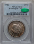 Commemorative Silver: , 1952 50C Washington-Carver MS65 PCGS. CAC. PCGS Population(1245/290). NGC Census: (1259/306). Mintage: 2,006,292. Numismed...
