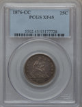 Seated Quarters: , 1876-CC 25C XF45 PCGS. PCGS Population (33/235). NGC Census:(13/226). Mintage: 4,944,000. Numismedia Wsl. Price for proble...