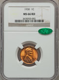 Lincoln Cents: , 1930 1C MS66 Red NGC. CAC. NGC Census: (1201/256). PCGS Population(972/79). Mintage: 157,415,008. Numismedia Wsl. Price fo...
