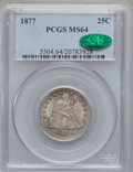Seated Quarters: , 1877 25C MS64 PCGS. CAC. PCGS Population (66/149). NGC Census:(80/123). Mintage: 10,911,710. Numismedia Wsl. Price for pro...