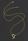 Estate Jewelry:Necklaces, Gold Necklace by Paloma Picasso for Tiffany & Co.. ...