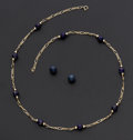 Estate Jewelry:Lots, Sodalite, Lapis Lazuli and Gold Jewelry. ... (Total: 2 Items)