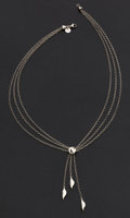 Estate Jewelry:Necklaces, Sterling Silver Necklace by Tiffany & Co. . ...