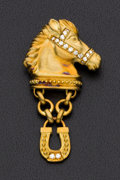 Estate Jewelry:Brooches - Pins, Diamond and Gold Brooch. ...