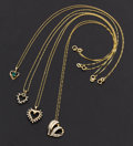 Estate Jewelry:Necklaces, Multi-Stone and Gold Necklace Lot. ... (Total: 4 Items)
