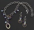 Estate Jewelry:Suites, Amethyst, Glass, Gold and White Gold Jewelry Suite. ... (Total: 2Items)