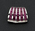 Estate Jewelry:Pendants and Lockets, Synthetic Ruby and White Gold Pendant-Enhancer. ...