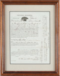 Militaria:Ephemera, Massachusetts Enlistment Papers from 1864....