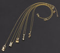 Estate Jewelry:Necklaces, Diamond, Sapphire and Gold Necklace Lot. ... (Total: 5 Items)