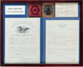 Militaria:Ephemera, Framed Archive of New York Mounted Rifles Private. ...