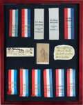 Militaria:Ephemera, 21st Maine Infantry Framed Reunion Archive....