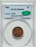 Proof Indian Cents, 1881 1C PR66 Red PCGS. CAC....