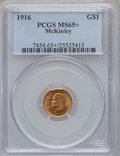 Commemorative Gold, 1916 G$1 McKinley MS65+ PCGS....