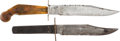 Edged Weapons:Knives, Pair of Bowie Style Knives.... (Total: 2 Items)