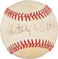 Baseball Collectibles:Balls, Whitey Witt Single Signed Baseball....