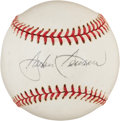 Baseball Collectibles:Balls, Jackie Jensen Single Signed Baseball....