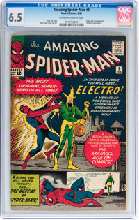 The Amazing Spider-Man #9 (Marvel, 1964) CGC FN+ 6.5 Off-white to white pages