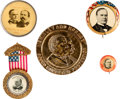 Political:Pinback Buttons (1896-present), William McKinley: Five Buttons and Badges.... (Total: 5 Items)