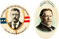Political:Pinback Buttons (1896-present), Theodore Roosevelt & William Howard Taft: Pair of Pocket Mirrors. ... (Total: 2 Items)