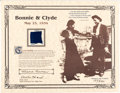 Miscellaneous:Ephemera, Bonnie & Clyde: Swatch of Clyde's Trousers....