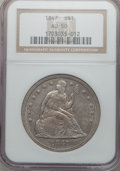 Seated Dollars: , 1847 $1 AU50 NGC. NGC Census: (38/266). PCGS Population (81/231).Mintage: 140,750. Numismedia Wsl. Price for problem free ...