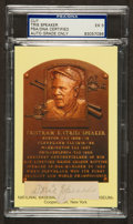 Baseball Collectibles:Others, Tris Speaker Signed Cut Signature PSA EX 5....