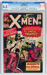 X-Men #5 (Marvel, 1964) CGC FN+ 6.5 Off-white to white pages